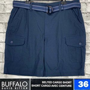 NEW Buffalo Size 36 Belted Rip Stop Cargo Shorts